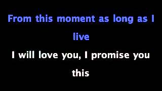 From This Moment - Shania Twain Ft. Bryan White - KARAOKE SING ALONG with Lyrics