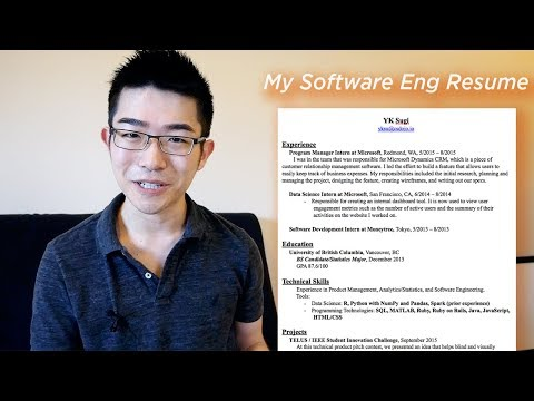 What My Software Engineer Resume Looks Like