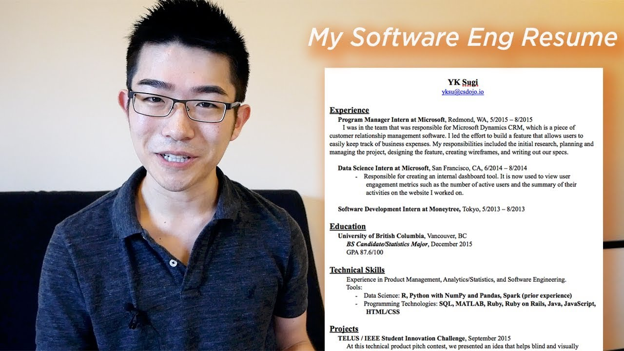 What My Software Engineer Resume Looks Like Youtube