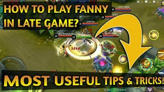 HOW TO PLAY FANNY IN LATE GAME EXPLAINED! FANNY BUILD & EMBLEM SETS EXPLAINED