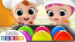 Hot Cross Buns In the Oven, Yummy! | Nursery Rhymes by Littl...