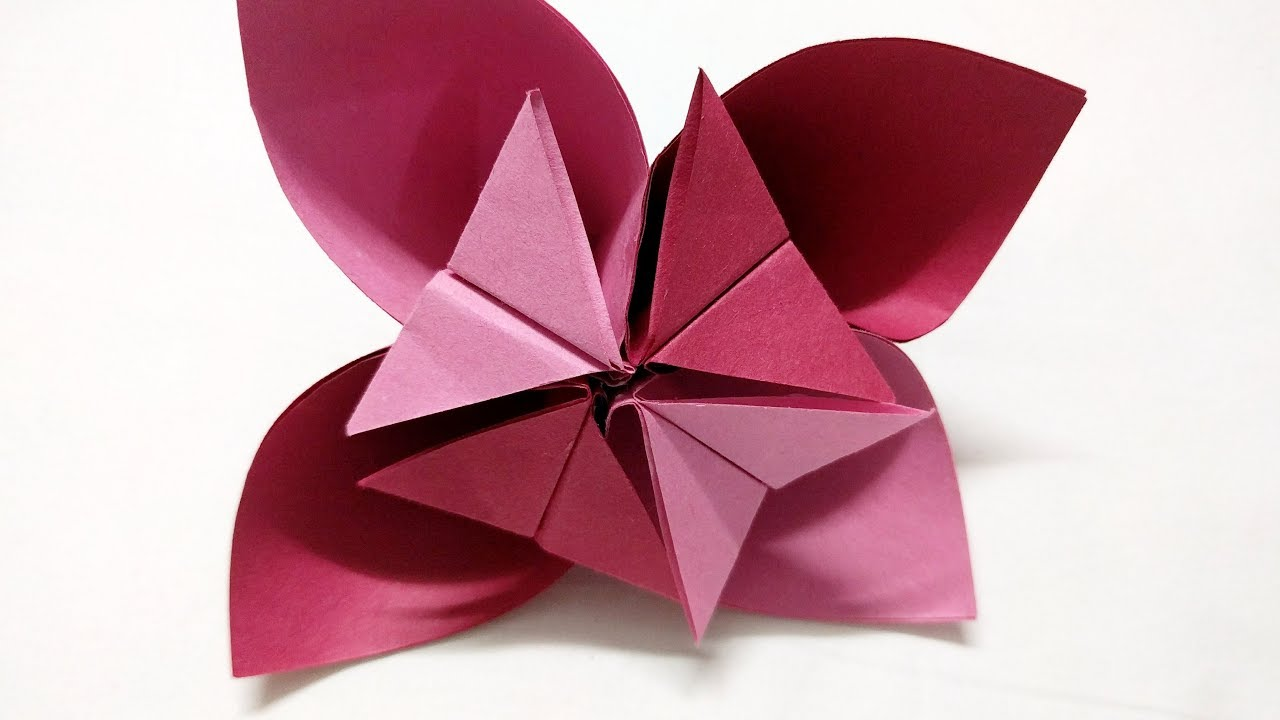 Origami flower how to make origami flower for kids craft origami flower how to make origami flower for kids craft activities for kids paper flower dhlflorist Images