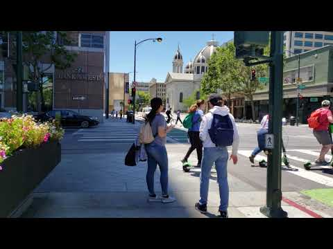 4K Walking on the streets of Sanjose, California