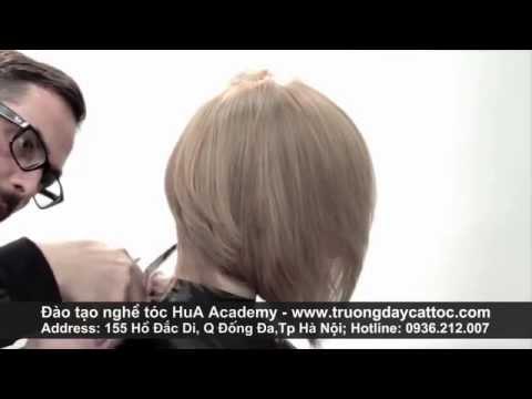 Dạy cắt đầu Bob cực đẹp, dạy cắt tóc nữ ngắn, học cắt tóc Bob