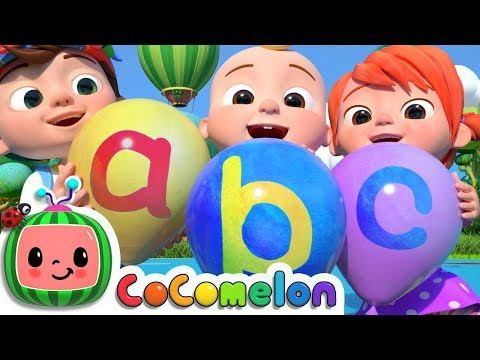 ABC Song with Balloons  CoComelon Nursery Rhymes & Kids Songs