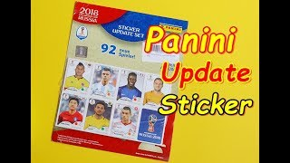 Panini Sticker Album FIFA World Cup 2018 Russia Update stickers unboxing