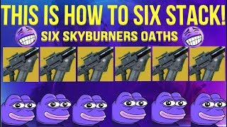 SIX SKYBURNERS OATH'S IN QUICKPLAY! - Destiny 2 Jokers Wild thumbnail