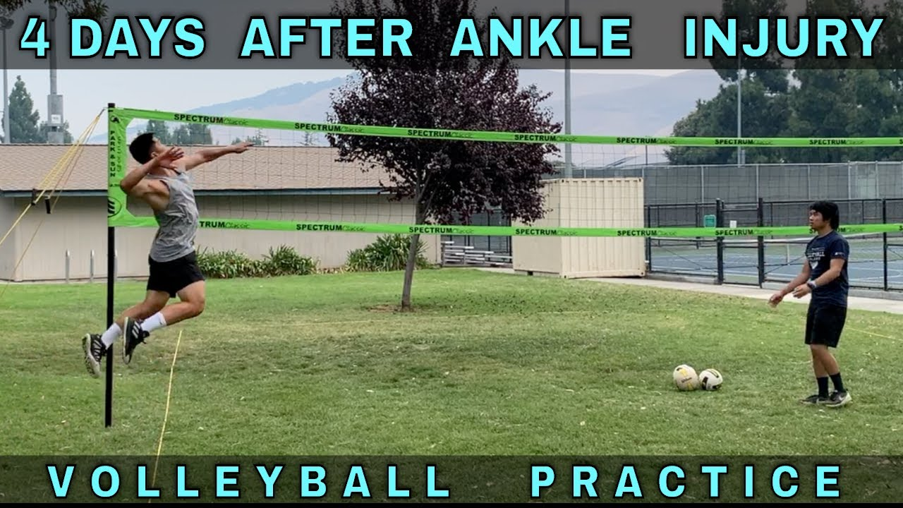 SPIKING 4 DAYS AFTER ANKLE INJURY | Volleyball Practice (8--22-20)