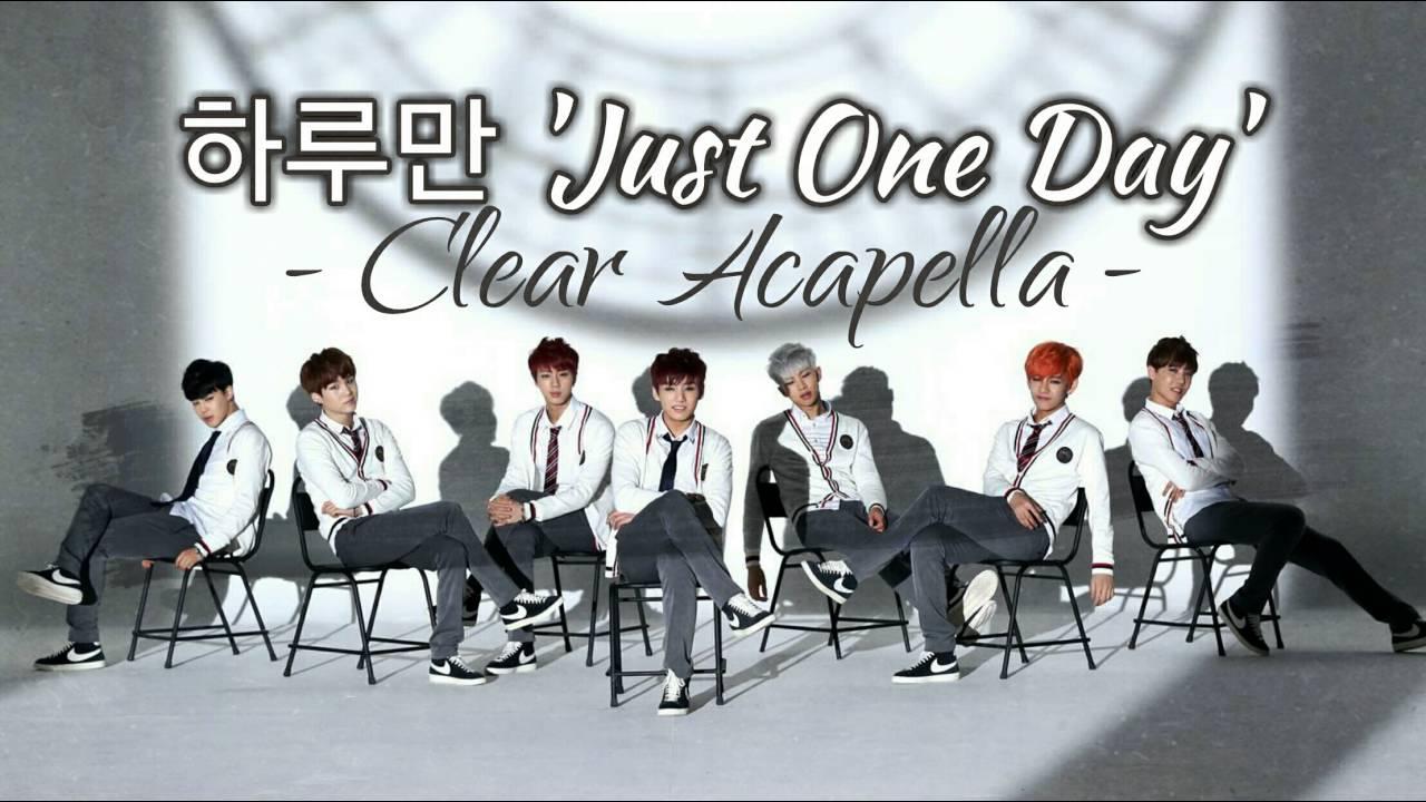 BTS (방탄소년단) - '하루만 (JUST ONE DAY)' (CLEAR ACAPELLA)