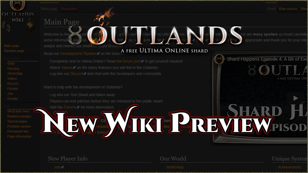New Wiki Preview [UO Outlands]