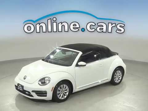 C13090TR Used 2018 Volkswagen Beetle FWD 2D Convertible White Test Drive, Review, For Sale