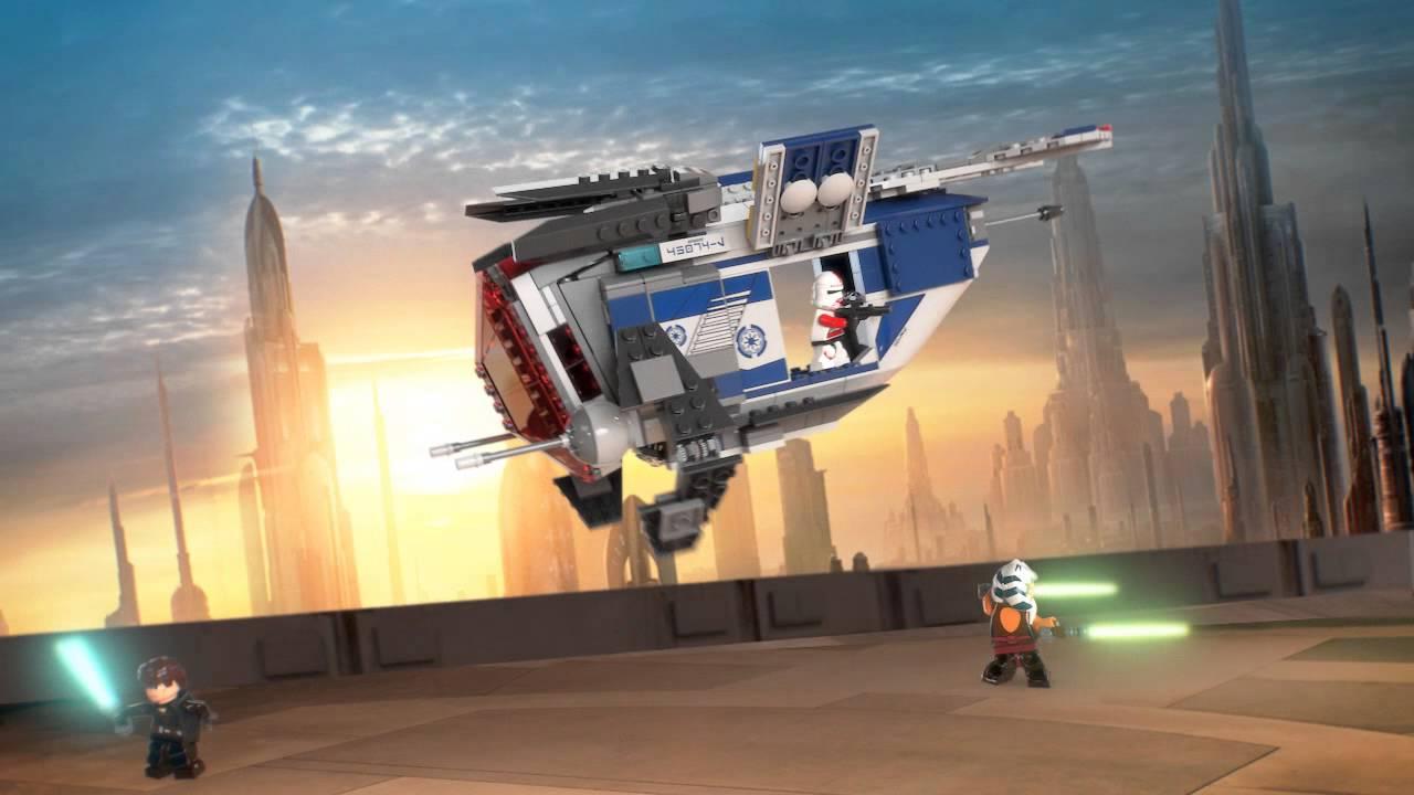 LEGO Star Wars CORUSCANT POLICE GUNSHIP 75046 Ahsoka Anakin Skywalker Shock