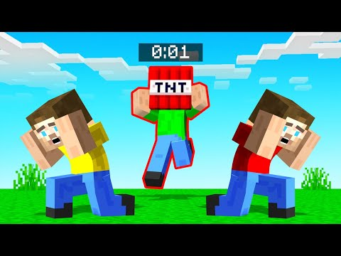 LAST Player To TOUCH The TNT EXPLODES! (Minecraft)