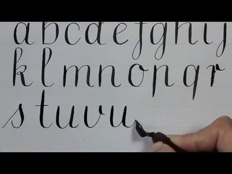 handlettering - how to write in calligraphy - for beginners