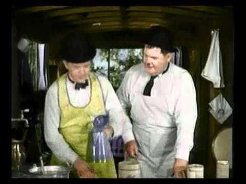 Laurel And Hardy Sing Song - In Colour!