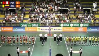Sudamericano de Voleibol Femenino Menores Tarapoto 2014 - Perú vs. Colombia