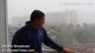 INSANE Hurricane Irene Wind Video - Nassau, Bahamas - HD Video