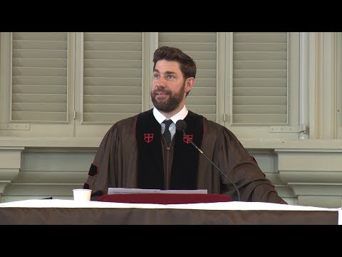 "John Krasinski Gives Words of Wisdom to Brown University Graduates: ""Believe in Something"""