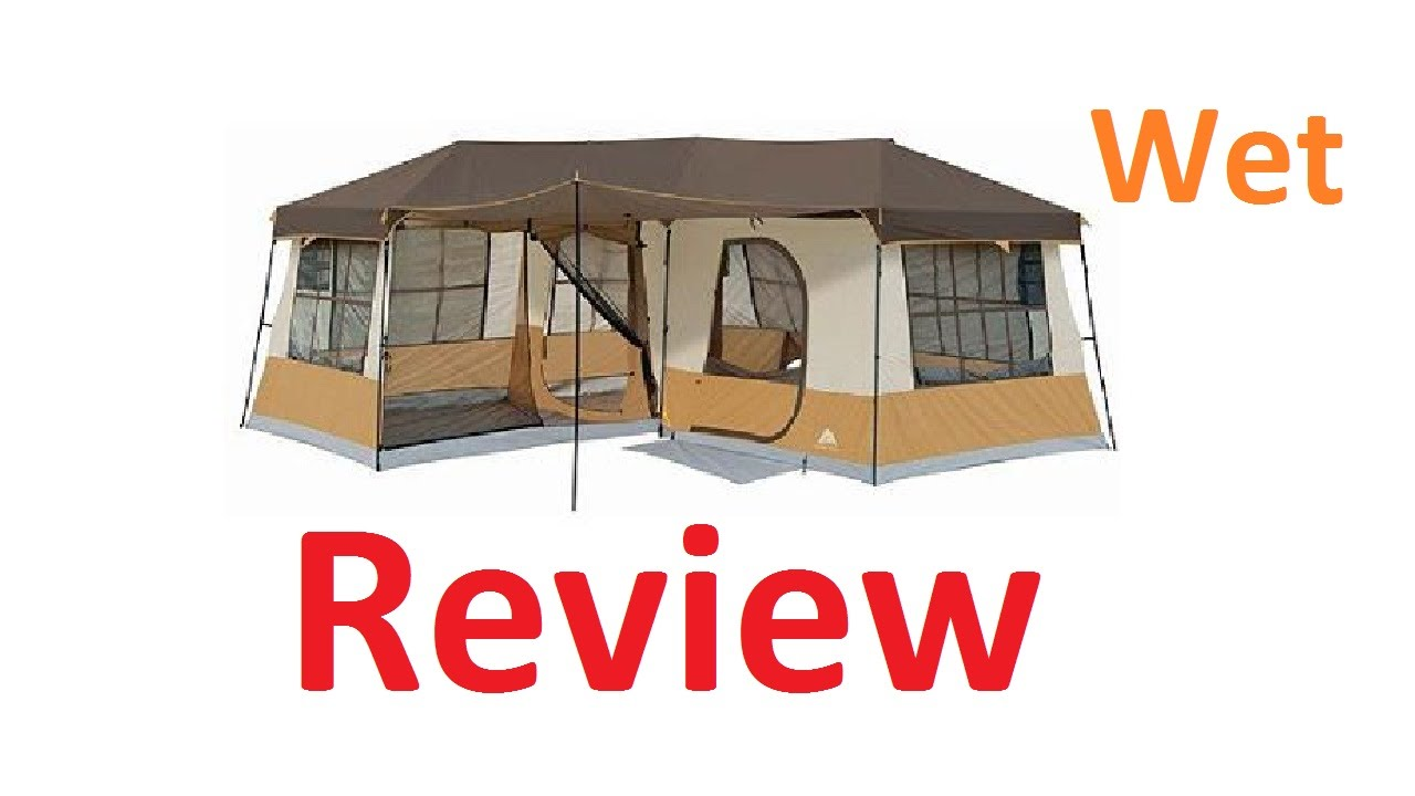 Ozark Trails 3 Room Cabin Tent Review - Wet Review  sc 1 st  YouTube & Ozark Trails 3 Room Cabin Tent Review - Wet Review - YouTube