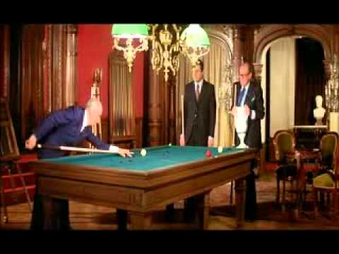 Louis De Funes playing Billiards