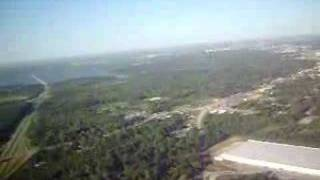 Taking off in Shreveport Louisiana airport