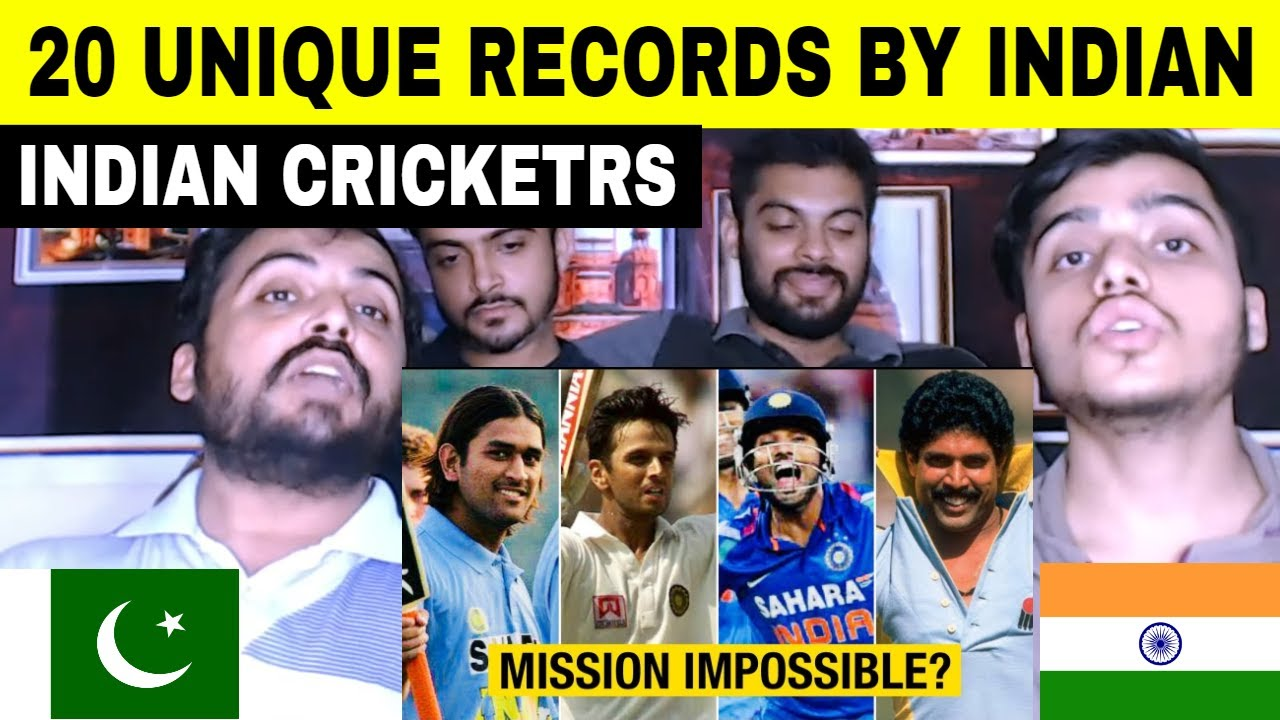 Pakistani Reaction on 20 Unique Records By Indian Cricketers That Are Impossible To Break