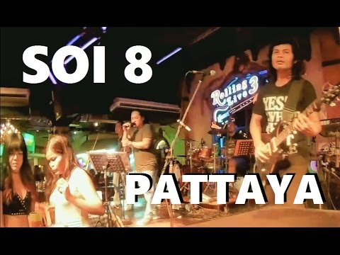 PATTAYA SOI 8 : LIVE MUSIC ROLLING LIVE BAR