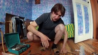 Как Обновить пол . деревянный пол. При помощи фена и электрорубанка