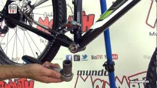 Como montar y desmontar un pedalier de bicicleta de cartucho