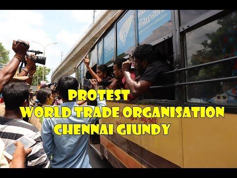 Chennai-யில் பற்றி எரியும் NEET Protest-Protest at World Trade organisation -கொந்தளிக்கும் மாணவர்கள்