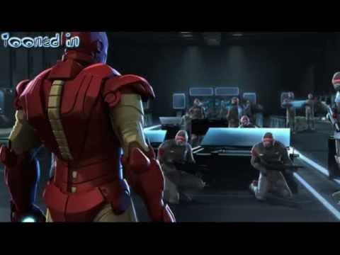 Iron Man and Captain America Heroes United scene