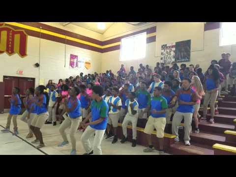 Johnakin Middle School 8th graders perform Super Mario 2016