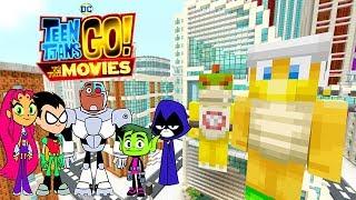 TEEN TITANS GO TO THE MOVIES! *MINECRAFT MOVIE?!*    Nintendo Superheroes   Minecraft Switch [12]