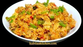 Cheesy Egg Bhurji Recipe-Anda Bhurji with Cheese-Masala Egg Bhurji-Easy Breakfast Recipe