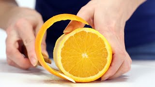 How to cut orąnge - orange peel trick