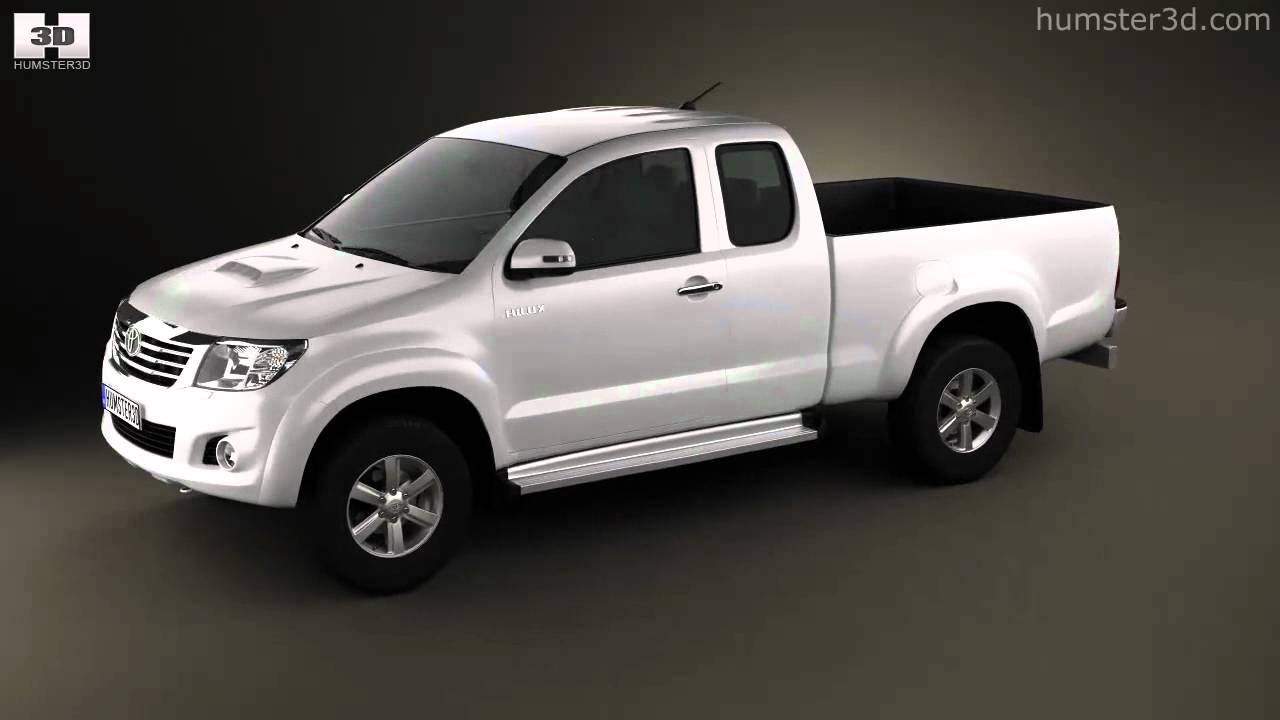 toyota hilux extracab 2012 by 3d model store. Black Bedroom Furniture Sets. Home Design Ideas