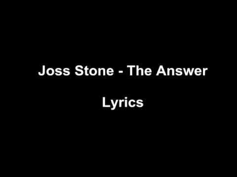 Joss Stone - The Answer Lyrics