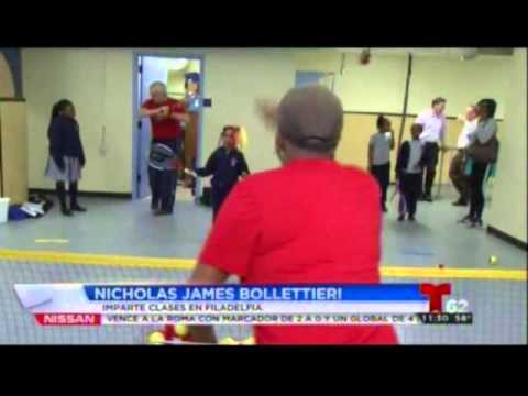 Noticiero 62 Telemundo WWSI Coverage at Gesu School: Nick Bollettieri Tennis Clinic