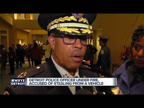 Detroit officer accused of stealing from recovery vehicle and misconduct