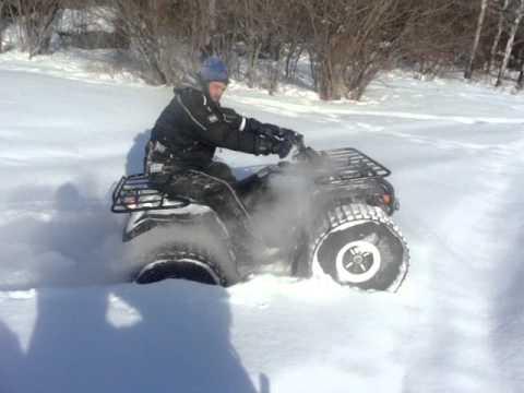 home made quad tracks - YouTube