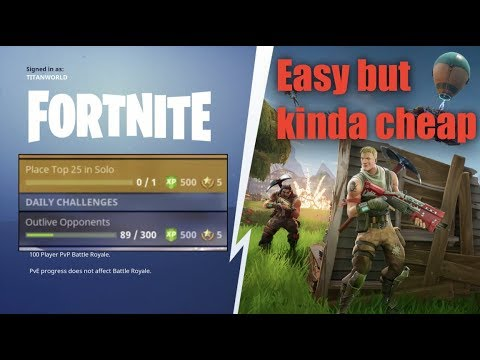 Easiest Way To Do Solo/outlive Challenges - Fortnite
