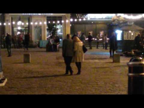 Filming Doctor Foster. Series 2. Suranne Jones says 'hello' )))
