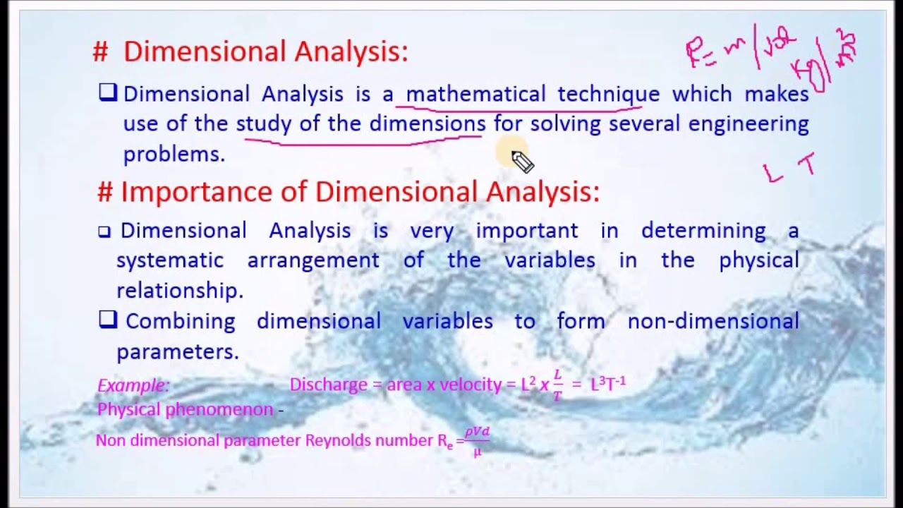 15e46f757e3 Define Dimensional Analysis and brief on the importance - M3.01 Fluid  Mechanics in Tamil