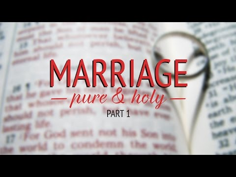 Marriage - Pure & Holy - Part 1 - John Alley