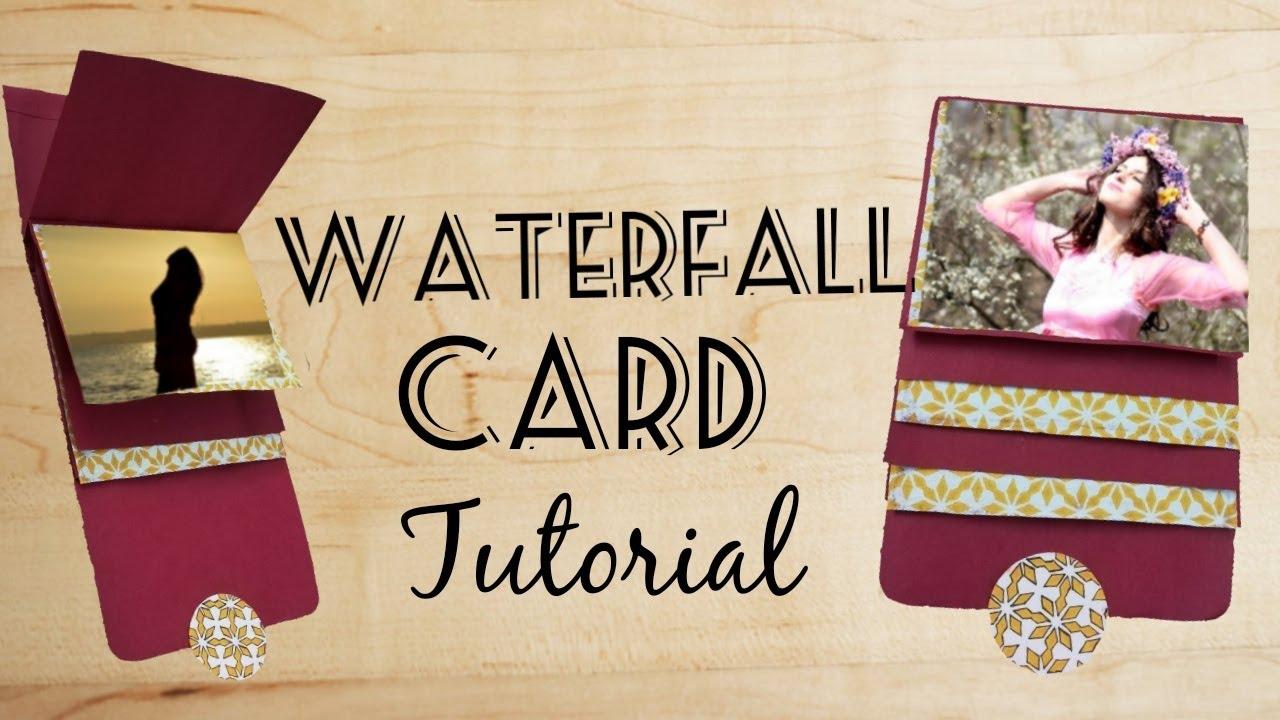 WATERFALL CARD TUTORIAL || DIY CARD TUTORIAL - YouTube