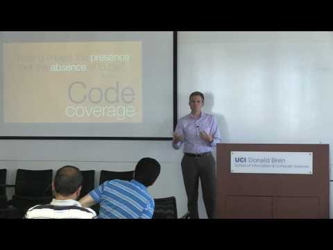"""Assessing software quality from first principles"" - Reid Holmes, University of British Columbia"