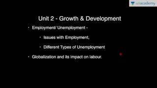 Unacademy Economics Lecture for IAS: Growth and Development of the Indian Economy (Hindi)