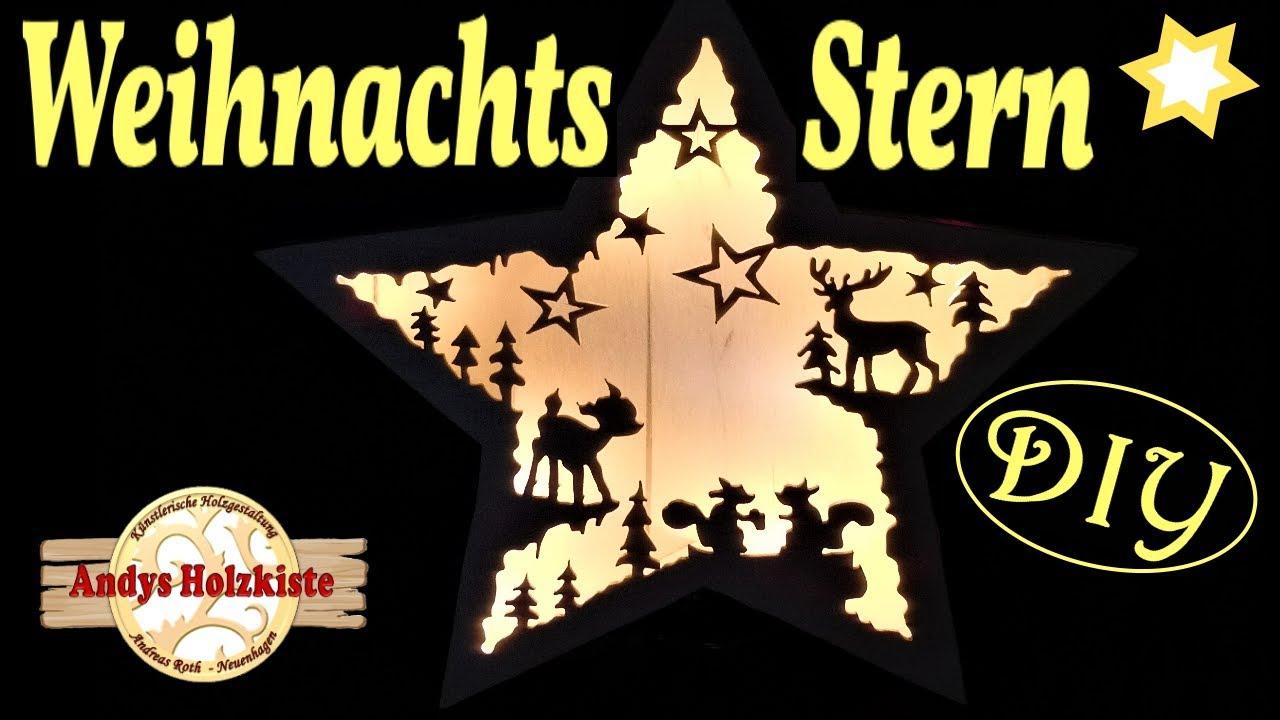 Weihnachtsstern Selber Machen Aus Holz Diy Weihnachtsdeko Scroll Saw Project