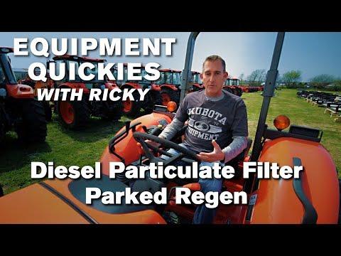 Kubota Tractor Diesel Particulate Filter Regen - YouTube