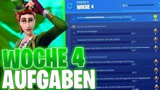 ALLE WOCHE 4 HERAUSFORDERUNGEN! | Season 8 Woche 4 Aufgaben | Fortnite Season 8 Herausforderungen